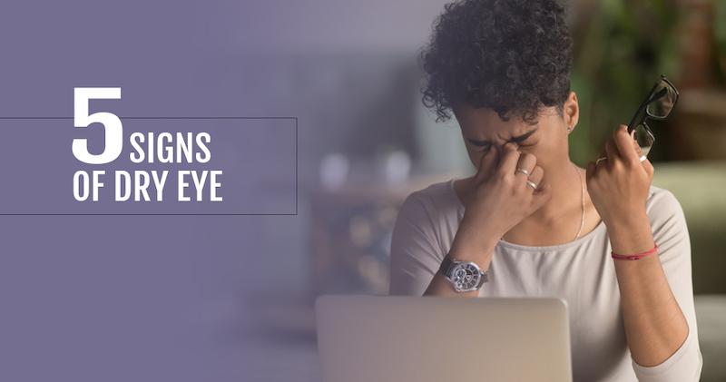 5 signs of dry eye